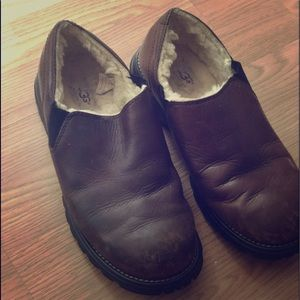Authentic Ugg leather loafers
